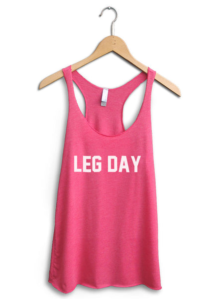 Leg Day Women's Pink Tank Top
