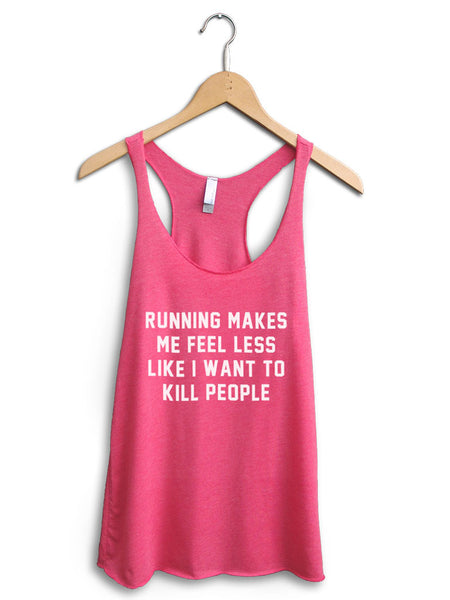 Running Makes Me Feel Women's Pink Tank Top