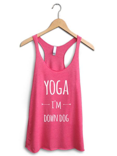 Yoga I'm Down Dog Women's Pink Tank Top