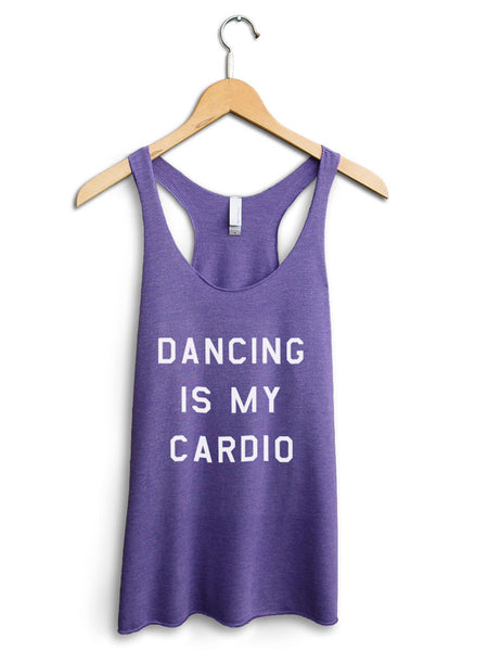Dancing Is My Cardio Women's Purple Tank Top