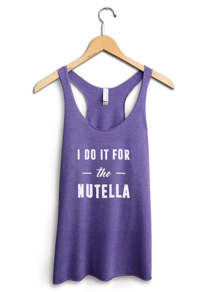 I Do It For The Nutella Women's Purple Tank Top