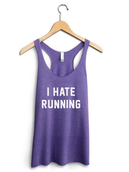 I Hate Running Women's Purple Tank Top