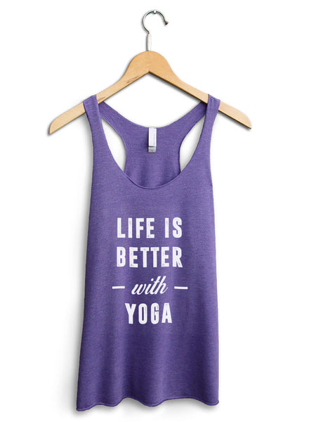 Life Is Better With Yoga Women's Purple Tank Top