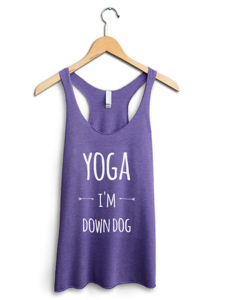 Yoga I'm Down Dog Women's Purple Tank Top