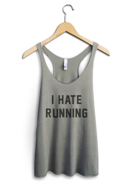 I Hate Running Women's Venetian Gray Tank Top