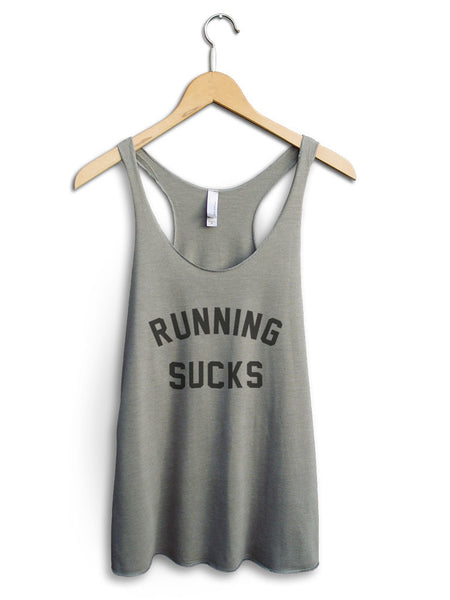 Running Sucks Women's Venetian Gray Tank Top