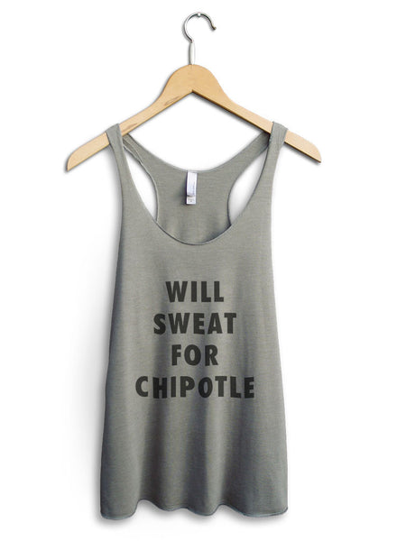 Will Sweat For Chipotle Women's Venetian Gray Tank Top
