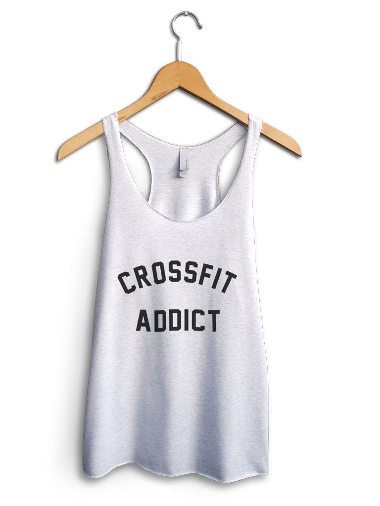 Crossfit Addict Women's White Tank Top