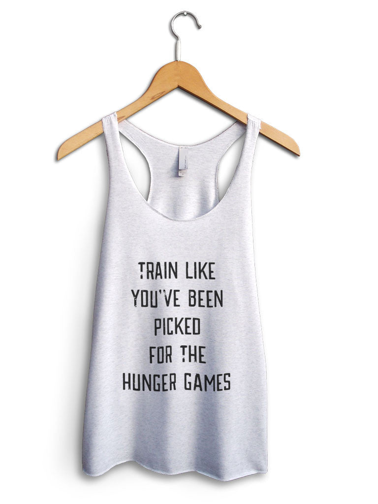 Train Like You've Been Picked For The Hunger Games Women's White Tank Top