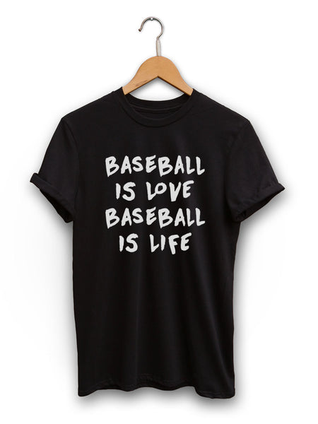 Baseball Is Love Unisex Black Shirt