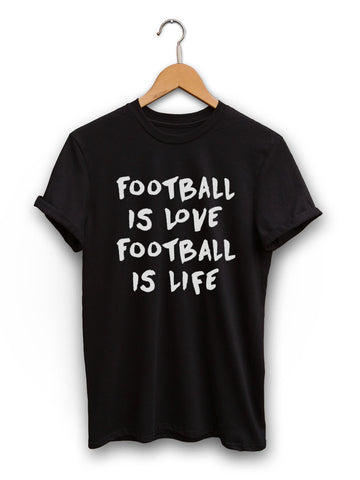 Football Is Love Unisex Black Shirt