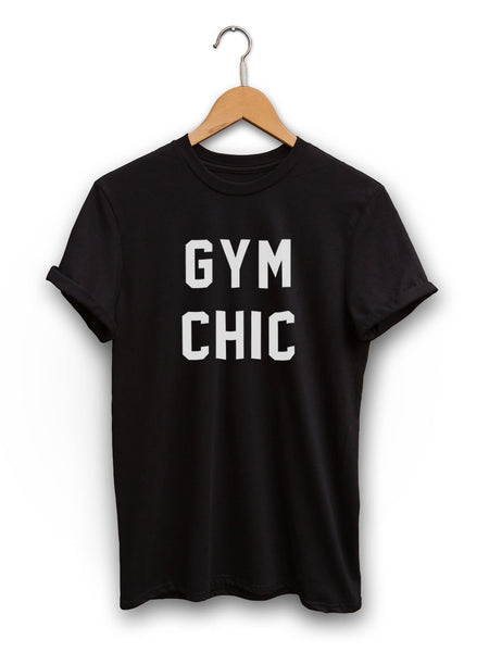 Gym Chic Unisex Black Shirt