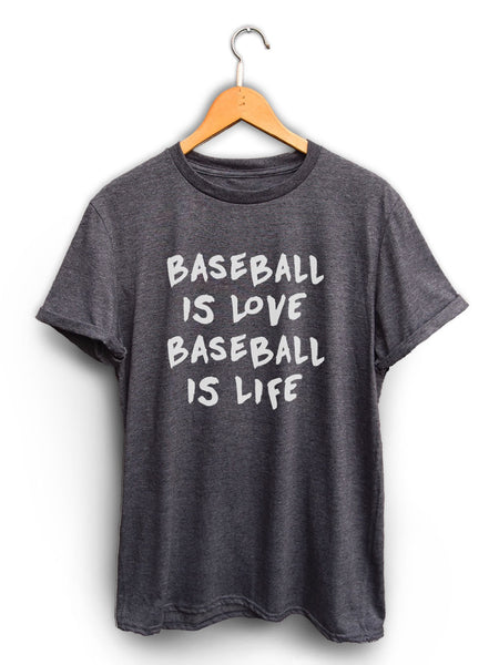 Baseball Is Love Unisex Dark Heather Gray Shirt