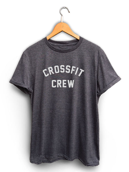 Crossfit Crew Unisex Dark Heather Gray Shirt