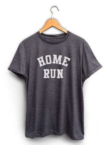 Home Run Unisex Dark Heather Gray Shirt