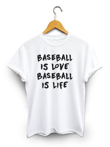 Baseball Is Love Unisex White Shirt
