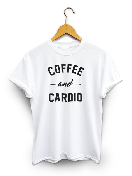 Coffee And Cardio Unisex White Shirt