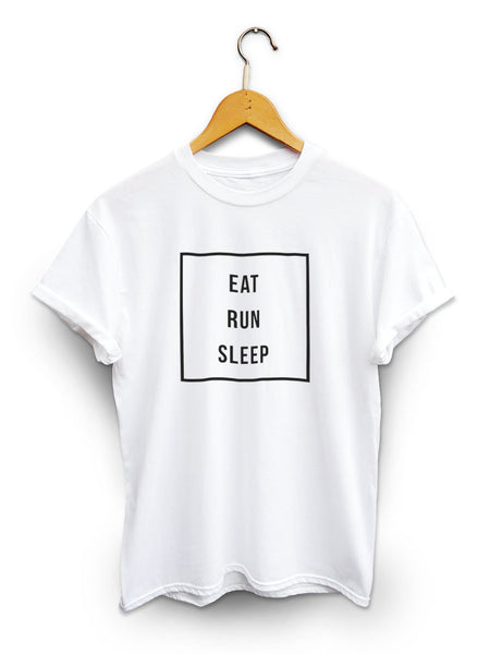 Eat Run Sleep Unisex White Shirt