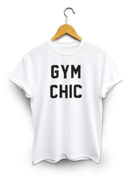 Gym Chic Unisex White Shirt