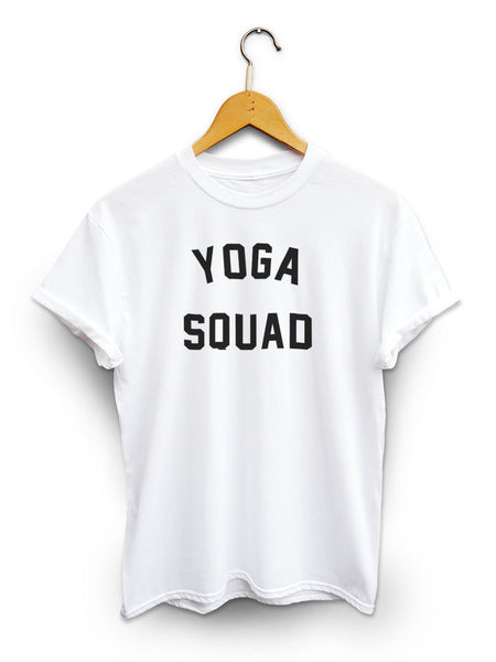 Yoga Squad Unisex White Shirt