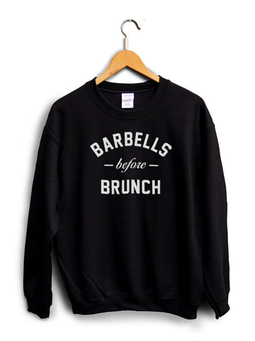 Barbells Before Brunch Black Unisex Sweater