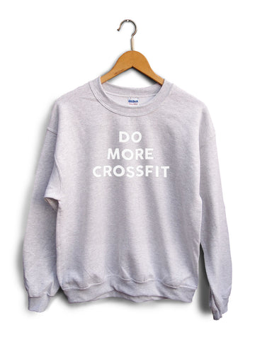 Do More Crossfit Heather Gray Unisex Sweater