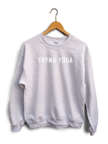 Tryan Yoga Heather Gray Unisex Sweater
