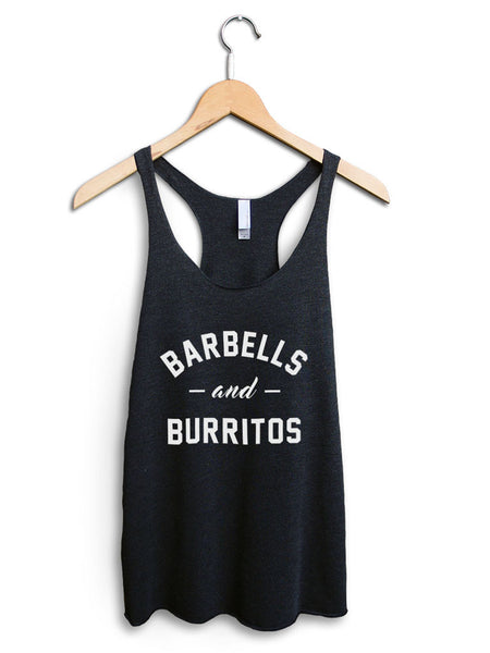 Barbells And Burritos Women's Black Tank Top