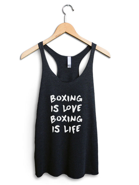 Boxing Is Love Boxing Is Life Women's Black Tank Top