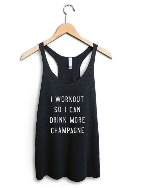 Drink More Champagne Women's Black Tank Top