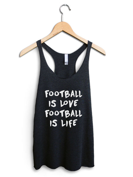 Football Is Love Football Is Life Women's Black Tank Top