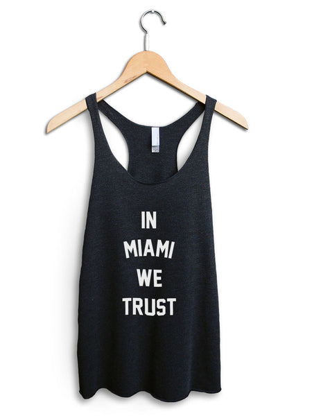 In Miami We Trust Women's Black Tank Top