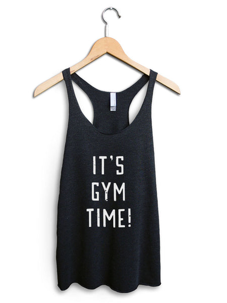 Its Gym Time Women's Black Tank Top