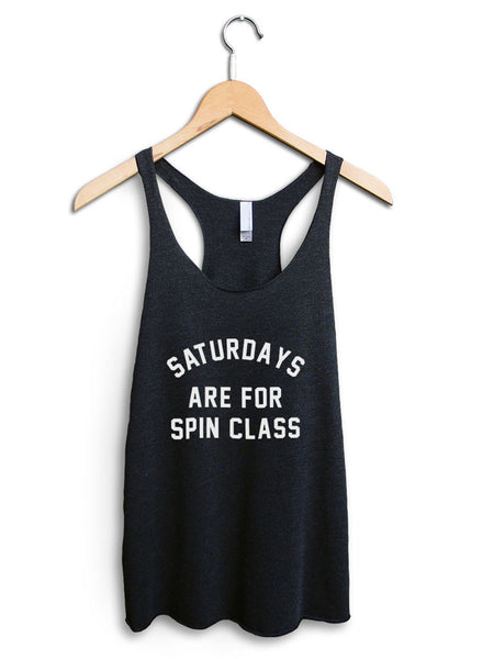 Saturdays Are For Spin Class Women's Black Tank Top