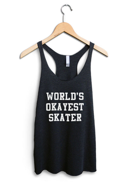 Worlds Okayest Skater Women's Black Tank Top