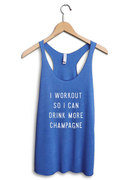 Drink More Champagne Women's Blue Tank Top