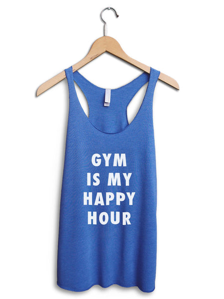 Gym Is My Happy Hour Women's Blue Tank Top