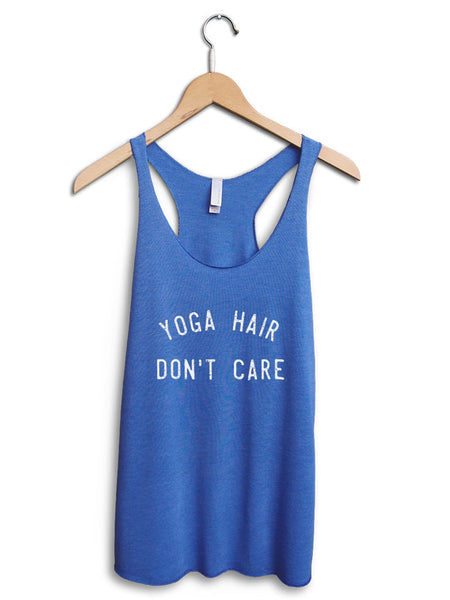 Yoga Hair Dont Care Women's Blue Tank Top