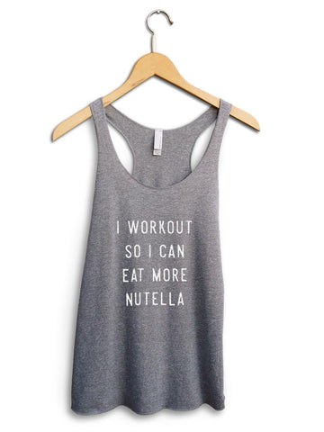 Eat More Nutella Women's Gray Tank Top