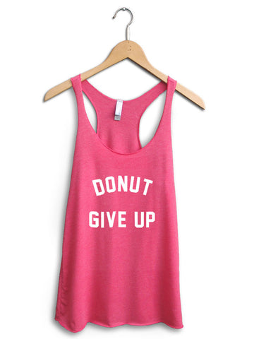 Donut Give Up Women's Pink Tank Top