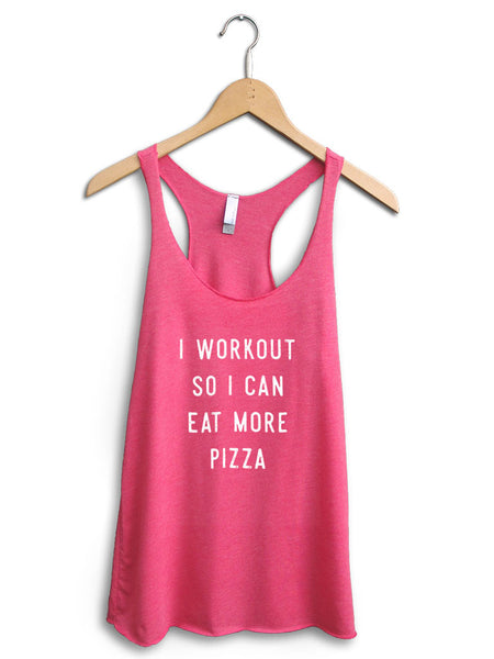 Eat More Pizza Women's Pink Tank Top
