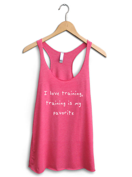 I Love Training Women's Pink Tank Top