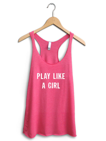 Play Like A Girl Women's Pink Tank Top