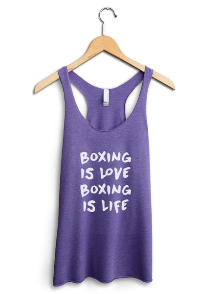 Boxing Is Love Boxing Is Life Women's Purple Tank Top