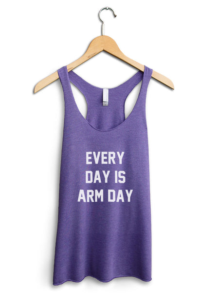 Every Day Is Arm Day Women's Purple Tank Top