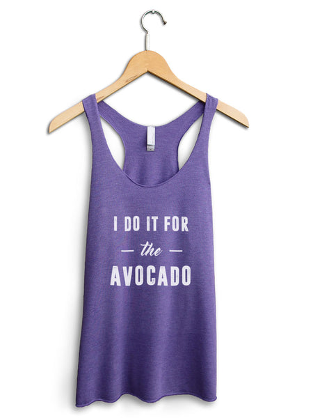 I Do It For The Avocado Women's Purple Tank Top