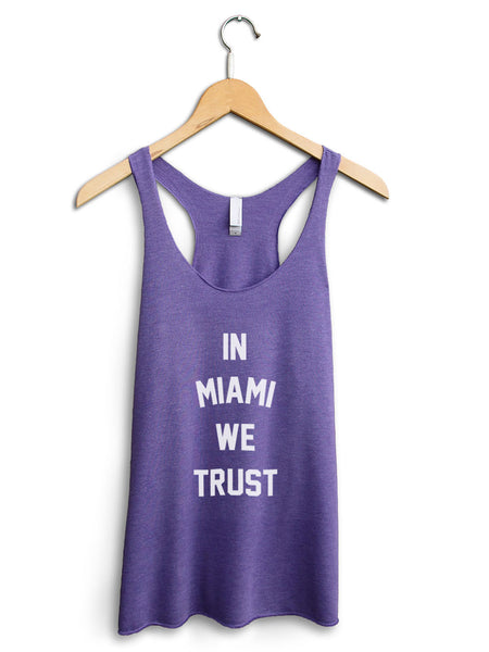 In Miami We Trust Women's Purple Tank Top