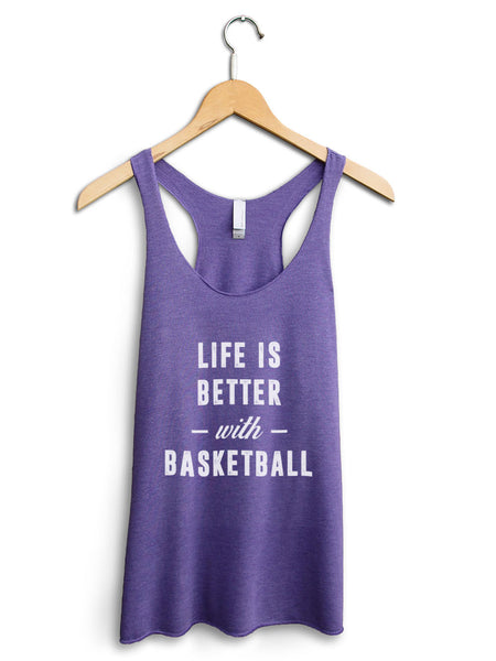 Life Is Better With Basketball Women's Purple Tank Top