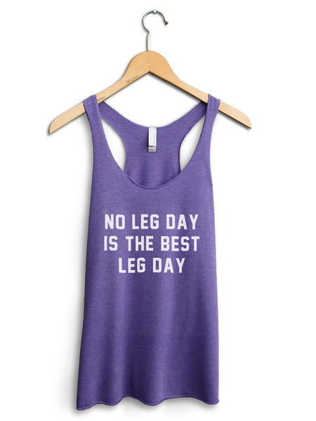No Leg Day Women's Purple Tank Top