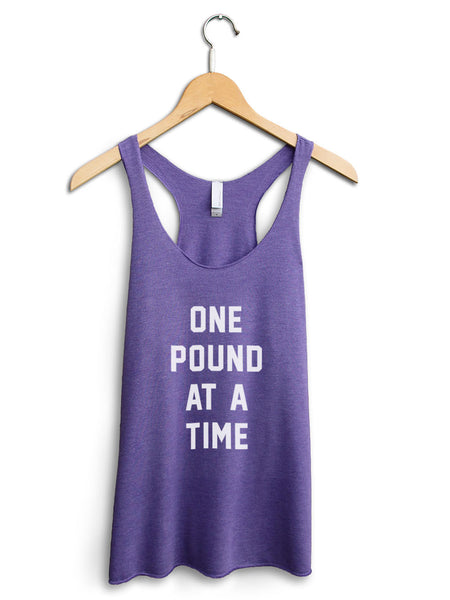 One Pound At A Time Women's Purple Tank Top